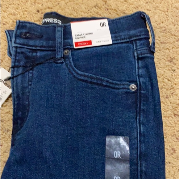 Express-Ankle Legging Mid Rise Stretch Jeans-0R-80
